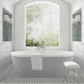 The Blake Tub by MTI Baths with the Glossy Stratus Gray exterior (#240)